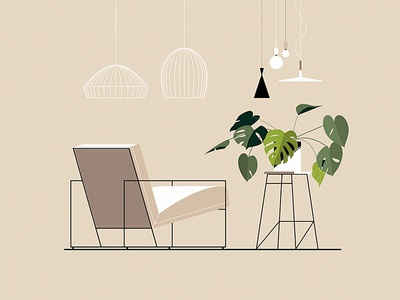 Electric Relaxation vol 4 furniture relax monstera lamp plants chair interior design