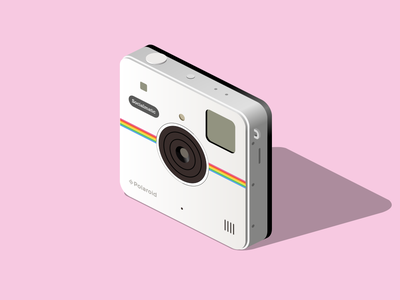 Polaroid retro polaroid vector isometric illustration