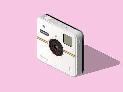 Polaroid retro polaroid vector isometric illustration