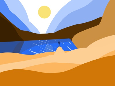 Wanderlust travel art digital art wanderlust landscape graphic design procreate illustration