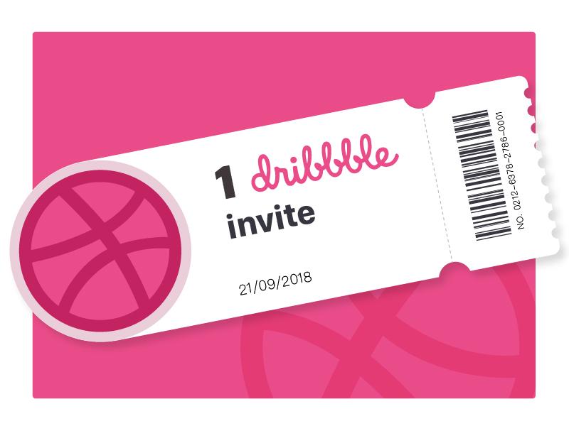 1 Dribbble Invite Giveaway invite ticket