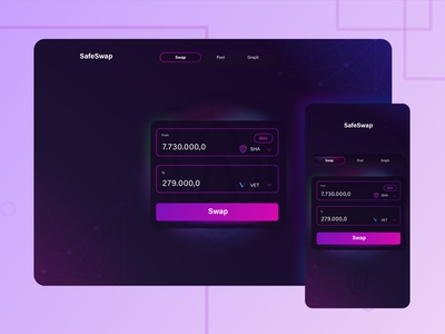 Crypto swap webapp appdesign uidesign design blockchain crypto