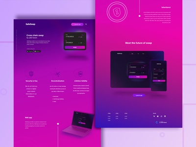 Crypto Web sketch appdesign uidesign uxui frontend react