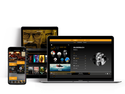Responsive Oba for Inflight entertainment tablet app webapp mobile app app react native