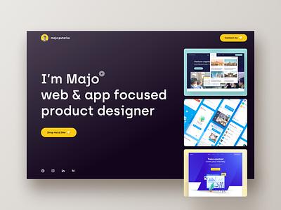 Majo Puterka - Personal website majo sketch ios app design ios app ios app uiux ui web ui ux product design web designer web design webdesign web ui majo puterka website web portfolio personal