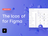 The Icon of - Plugin for Figma extension community figma plugin plugin majo puterka pixel perfect ligature icon set iconography design system ui components svg figma corona icon design icon theiconof.com the icon of icons