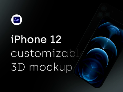 iPhone 12 Pro - 3D mockup for AE after effects download gumroad ui8 animation video reel showreel motion apple phone device mockups majoputerka.com iphonex iphone iphone 12 iphone 12 pro majo puterka mockup
