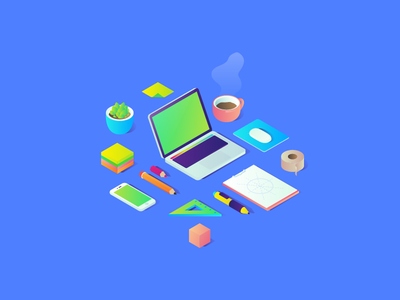 FREE Isometric Illustrations illustrations freebies gradient vector illustrator ai plat4m platform free isometric