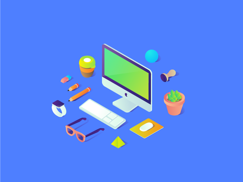 Free isometric illustration 2