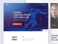 Sponsor online - Landing page