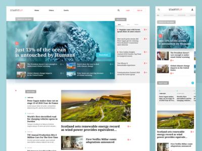 Startitup Homepage business lp plat4m homepage sketch ui ux startup startitup portal news landing page