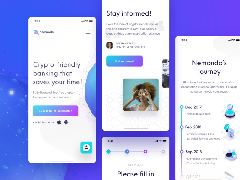 Nemondo - responsive response responsive webgl ui ux cryptocurrency crypto banking 3d model model globe 3d sketch threejs flow studio flow nemondo website