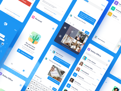 Salesmsg iOS App - Overview wireframes ui ux iphone x iphone xs mobile app salesmsg messaging message contacts conversation empty state ios app app design sketch ios iphone app