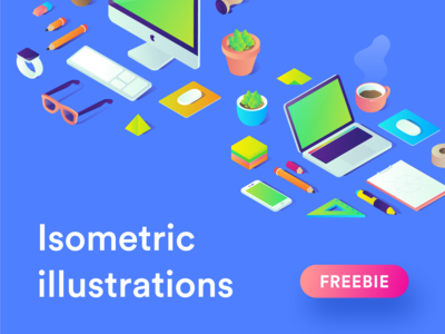 Free Isometric illustrations - available for download again.