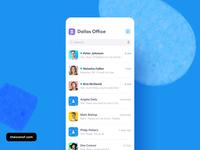 Salesmsg iOS App - Slack-like sidebar