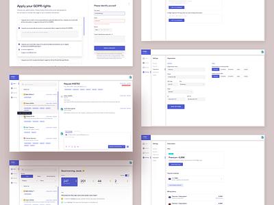 Rodger app - Inbox for GDPR requests rodger ui ux uiux ui sketch message app widget majo puterka client email inbox requests gdpr app webdesign web app