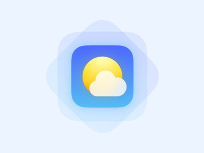 Weather icon gradients blue app weather ios cloud sun icon