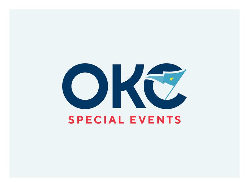 OKC Special Events events ok okc flag banner typography type branding brand logo