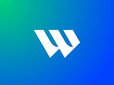 Wolf Strategic Solutions w blue green identity branding brand logo