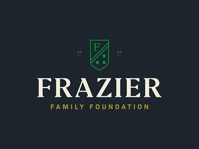 Frazier Foundation Logo family crest badge identity branding brand logo
