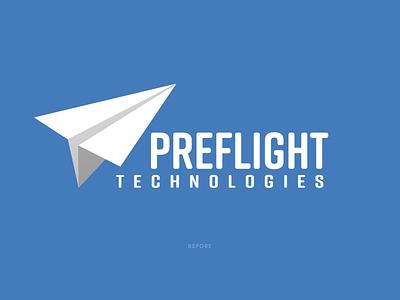 Preflight Tech triangle triangles tech technology flight blue identity typography type branding brand logo