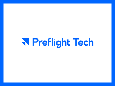 Preflight Tech triangle triangles tech technology flight blue identity typography type branding brand logo