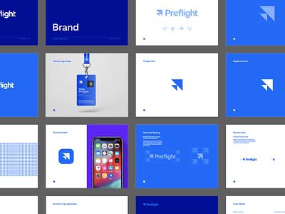 Preflight Brand Guide arrow bird triangle style guide brand guidelines guidelines brand guide identity typography type branding brand logo