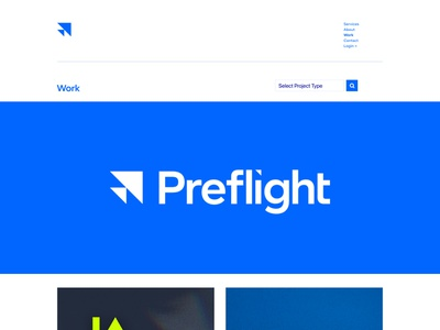 Preflight Website web agency technology tech fly flight ui design ui website identity brand
