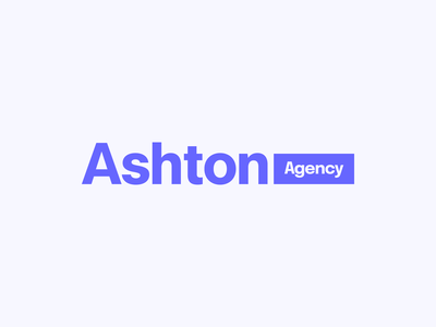 Ashton Agency clean simple purple identity typography type branding brand logo