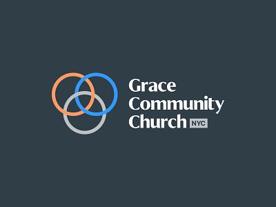 GCNY community grace circles circle three trinity line church identity typography type branding brand logo