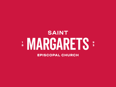 St. Margarets saints saint church identity typography type branding brand logo