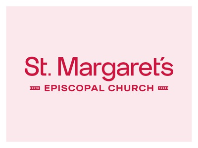 St. Margaret's Church saint red church identity typography type branding brand logo
