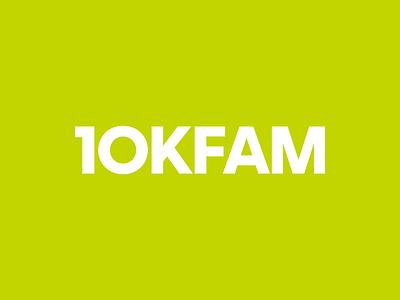 10KFAM - Ten Thousand Fathers & Mothers music christian christ church identity typography type branding brand logo