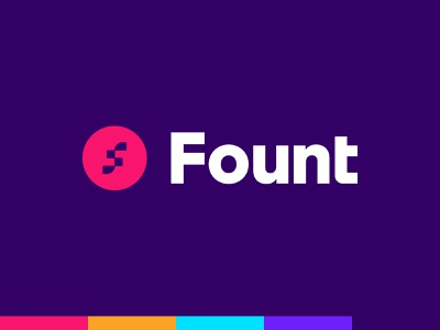 Fount [Unused] fount f developer coding code identity typography type branding brand logo