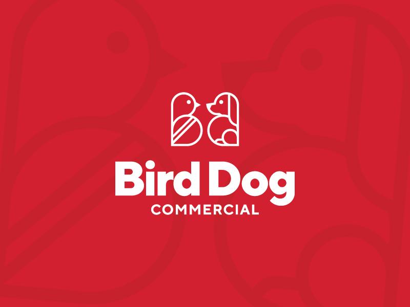 Bird Dog Commercial  real estate d b icon line branding brand logo dog bird