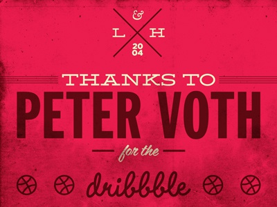 Dribbble thanks