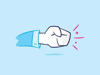 Fist Bump icon illustration punch fist bump