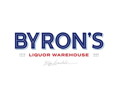 Byron's Logo warehouse alcohol liquor branding brand logo design logo