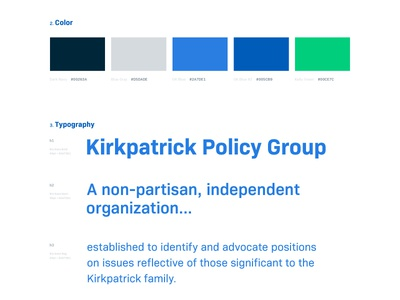 KPG UI Style Guide typography grids color type style guide ui