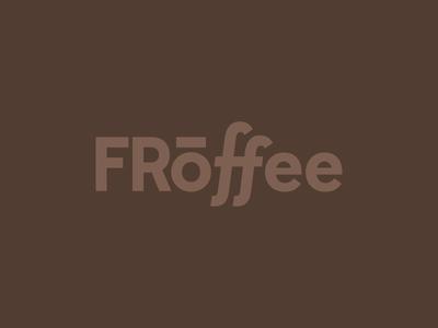 Froffee f latte frozen branding brand logo coffee