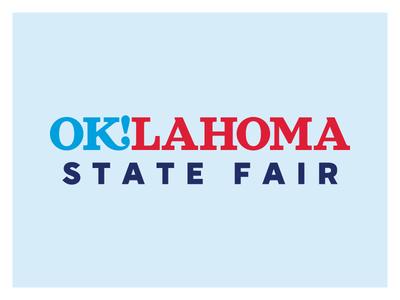 OKSF Full Logo america blue red branding brand logo fair state oklahoma ok