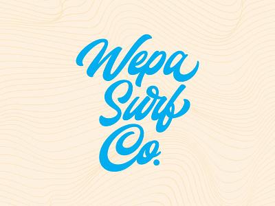 Wepa Concepts puerto rico beach script waves water surf identity typography type branding brand logo