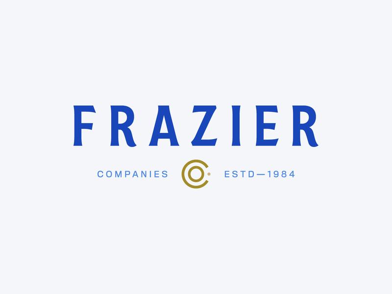Frazier Co. [Unused] coral orange blue coastal coast identity typography branding brand logo