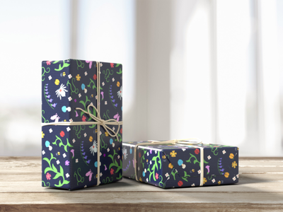 Garden wrap branding illustration garden wrapping paper
