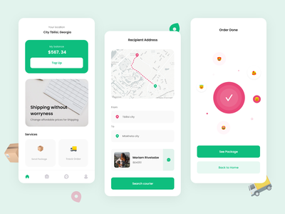 Shipping App courier service courier uxdesign uidesign ux shipping company shipping clean ui clean ui design