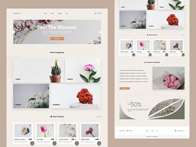 Green Room. Flower Website🌺 clean ui uxdesign inspiration ux flowerwebsite uidesign ecomerce clean flower website ui flower design