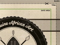 Detail of the African Cartel business card