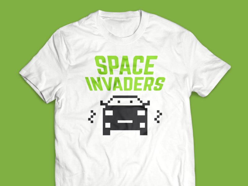 Space Invaders T Shirt By Joanne Kim Milnes Dribbble Dribbble