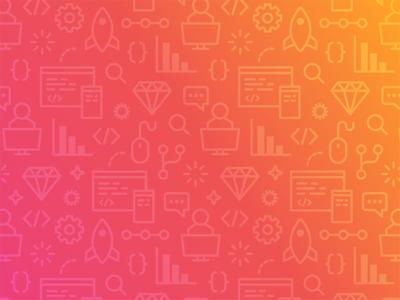 A pattern for a website gradient icons developer web graph code coding design app pattern development software
