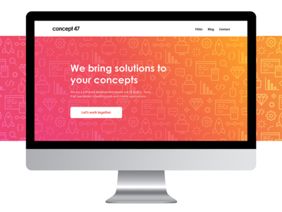 Landing Page homepage gradient icons coding pattern developer engineer software website page landing